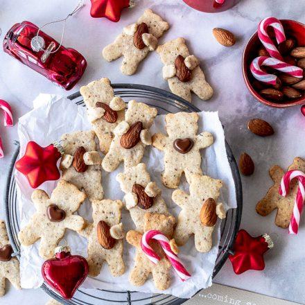 Weihnachtsplätzchen Teddy-Nuss